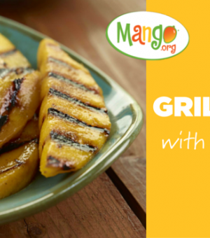 Grilled Mango with Vanilla Ice Cream