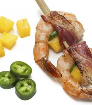 Bacon-Wrapped Mango Shrimp